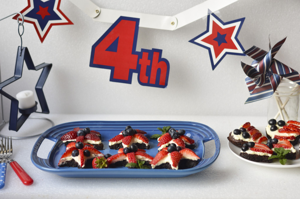 4th of July Flourless Brownies 9