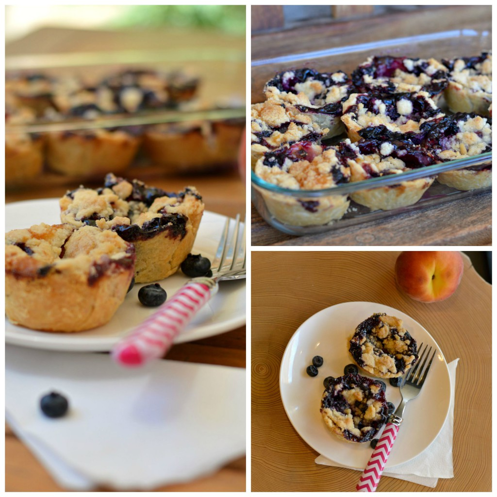 Bluberry & Peaches pies collage