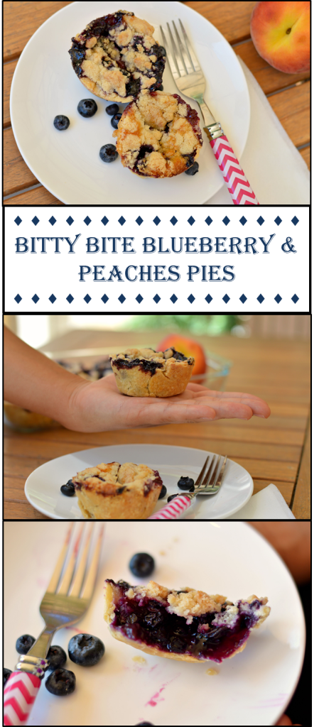 Bluberry & Peaches pies collage 2